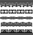 ancient medieval pattern border set vector image vector image