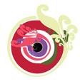 artistic greek evil eye in multipule colors vector image