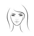 beautiful woman face icon vector image vector image