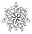 black and white mandala vector image