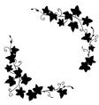 Black doodle ivy leaves pattern vector image vector image