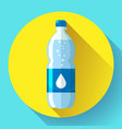 bottle water icon in flat style on blue vector image vector image