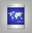 Brochures book or flyer with wold map template vector image vector image