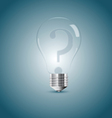 Bulb lamp with question sign inside vector | Price: 1 Credit (USD $1)
