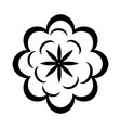cartoon flower in black and white line icon image vector image vector image