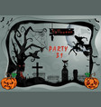 cemetery a holiday in october halloween vector image vector image