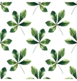 Chestnut leaf watercolor seamless pattern vector image vector image