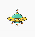 child drawing ufo icon unknow flying object vector image