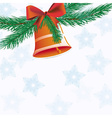 Christmas bell with ribbon vector image vector image