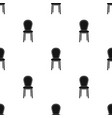 classical chair icon in black style isolated on vector image