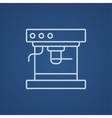 Coffee maker line icon vector image vector image