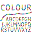 Colour alphabet vector image vector image