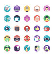 communication flat icons set vector image vector image