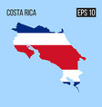 costa rica map border with flag eps10 vector image