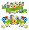 Creative floral banners vector image