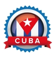 Cuba flag button badge vector image