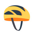 cute bright helmet template vector image