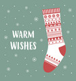 cute card warm wishes vector image