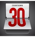 Dashboard countdown vector image
