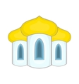 Domes of the church icon cartoon style vector image vector image