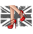 elegant sexy women high heel shoe isolated vector image vector image