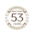 fifty three years anniversary celebration logo vector image vector image