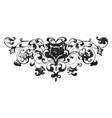 floral footer is a very dark design vintage vector image vector image