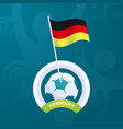 germany flag pinned to a soccer ball european vector image vector image