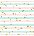 gold heart seamless pattern pink-blue-white vector image