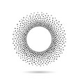halftone dotted background circularly distributed vector image vector image