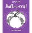 Halloween glamorous sparkling pumpkin vector image vector image