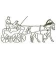 hand drawn horses vector image