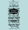 hand lettering with bible verse if anyone is in vector image vector image