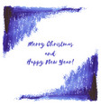 hand paint navy blue indigo watercolor winter vector image