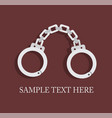 handcuffs symbol of unfreedom vector image
