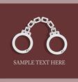 handcuffs symbol unfreedom vector image