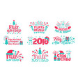 happy new year spanish set vector image vector image