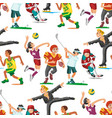 health sport seamless pattern background wellness vector image vector image