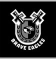 logo brave eagles eagle head located on the vector image vector image