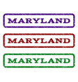 maryland watermark stamp vector image vector image