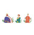 medieval royal family members king queen with vector image
