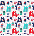 merry christmas background with cute ugly sweaters vector image