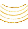 metal gold chain set isolated on white background vector image