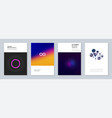 minimal trendy brochure templates with abstract vector image