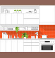 modern kitchen in black line sketch vector image