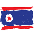 North Korea grunge flag vector image vector image