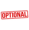 optional sign or stamp vector image vector image