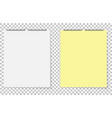 paper leaves yellow and white on isolated vector image vector image