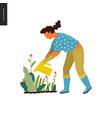 people summer gardening vector image vector image