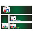 Poker banners vector image